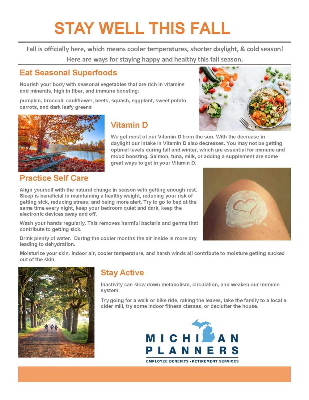 Stay Well This Fall Mi Planners Insurance
